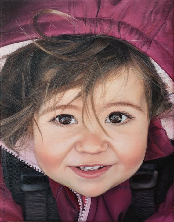 CUSTOM PAINTING - Custom Portrait - Oil Painting - Baby Portrait - Photo to Painting
