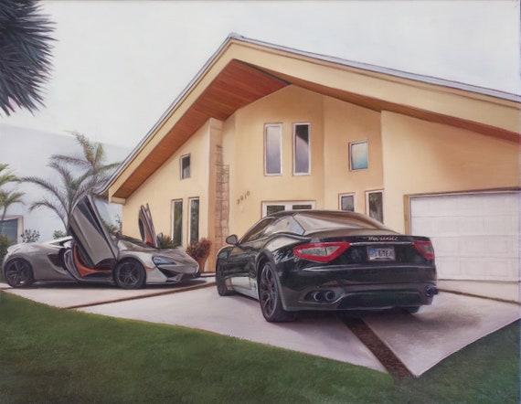 Custom Car Painting - Car Artwork - Classic Car Oil Painting