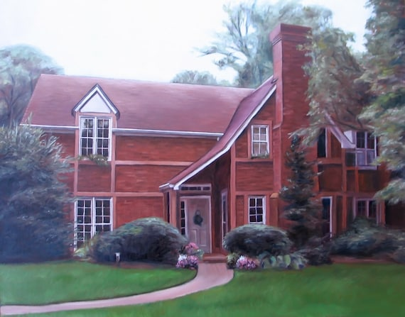 House Painting - House Portrait - From your Photo - Housewarming Gift