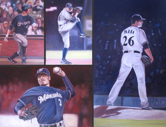 Custom Sports Painting Collage - Oil Portrait - 24x30