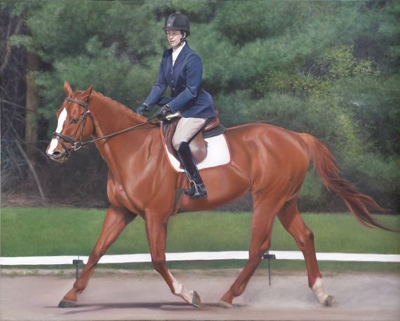 Custom Horse Painting - Horse Portrait - Oil Painting - Custom Portrait of Horse - Unique Gift