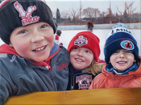 CUSTOM PORTRAIT - Photo to Painting - Oil Painting - Gift for Family - Child Portrait