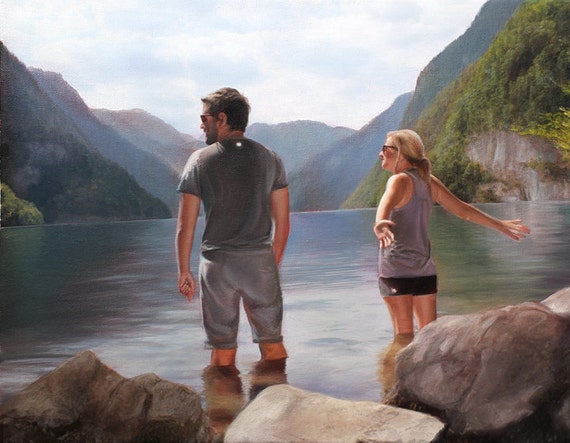 Custom Portrait - Oil Painting - Custom Landscape - Perfect Anniversary Gift