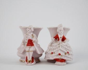 Antike Porzellanvase viktorianischen paar Set - markierten 9433 Deutschland - Hochzeit-Geschenk-Idee