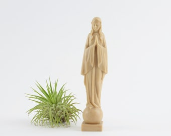 Vintage Plastic Statue of Mary - Immaculate Conception Miraculous Mary Statuary - Celluloid Religious Statue