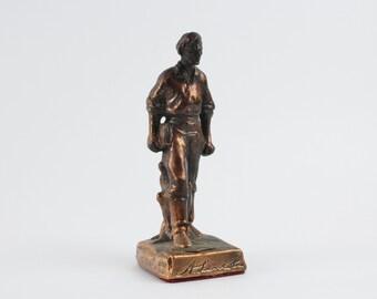 Jahrgang Kupfer Abraham Lincoln-Statue - Souvenir Gettysburg verkupferte Cast Metall A. Lincoln Figur