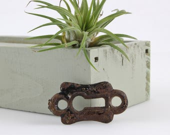 Vintage-Gusseisen Schlüsselloch Platte - Rosette Schlüssel Platte - Oldtimer Restaurierung Hardware