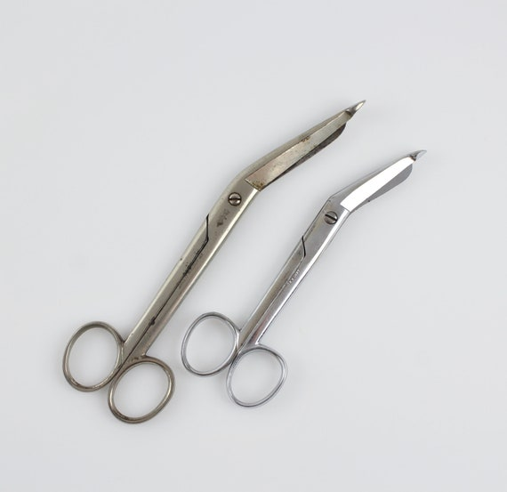 Vintage German Surgical Instruments - KNY Scheerer Angular Artery Scissors  2 Pair of Dissecting Post Mortem Instruments