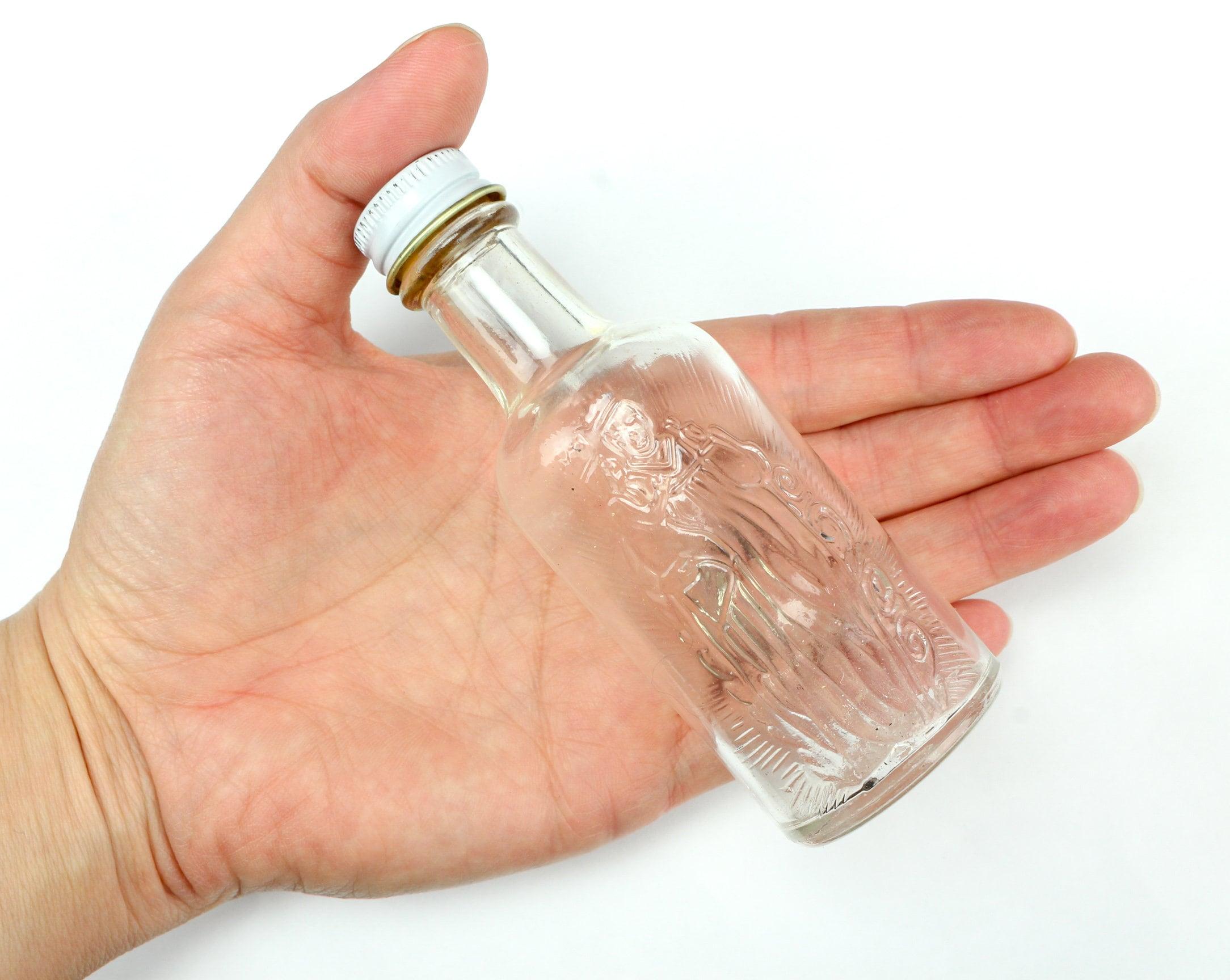 a871280e Vintage St. Anne Glass Holy Water Bottle Souvenir of Shrine Sainte Anne  de-Beaupre Quebec, Canada