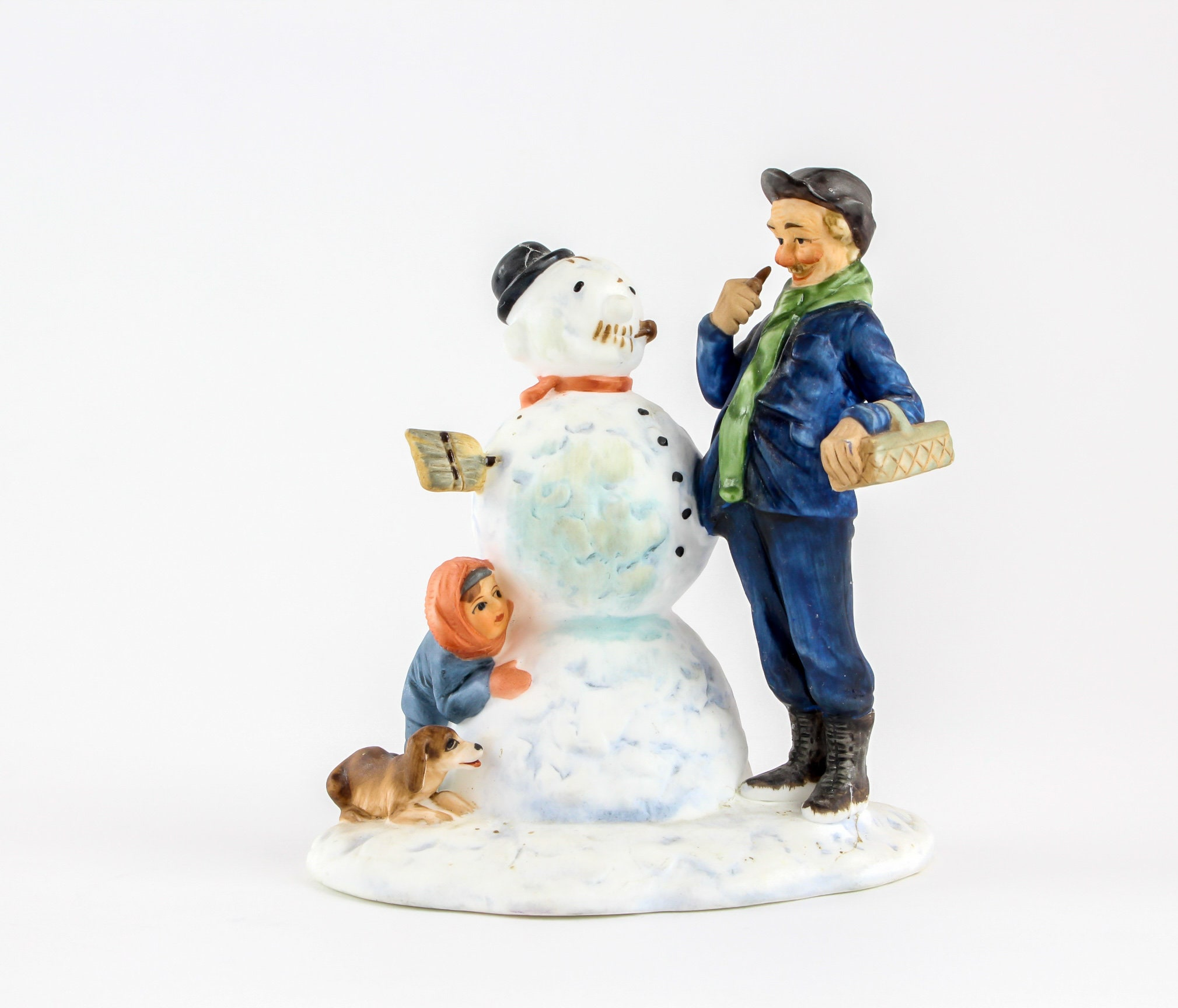 Madisons Headless Snowman As Big As >> Vintage Norman Rockwell Winter Snowman Figurine Four Seasons Etsy