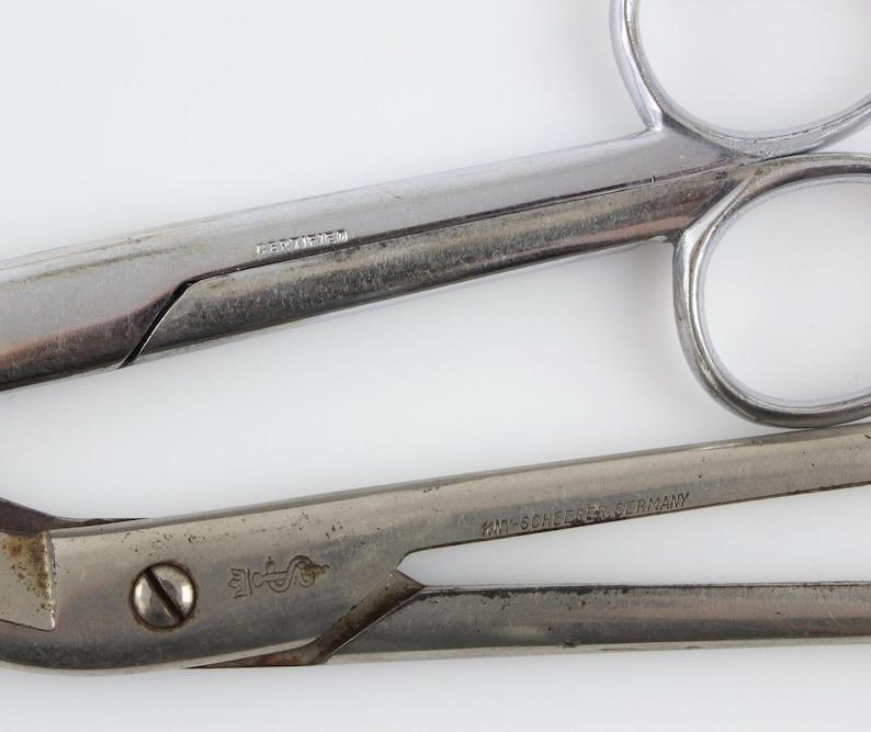 Vintage German Surgical Instruments - KNY Scheerer Angular Artery Scissors  2 Pair of Dissecting Post Mortem Instruments