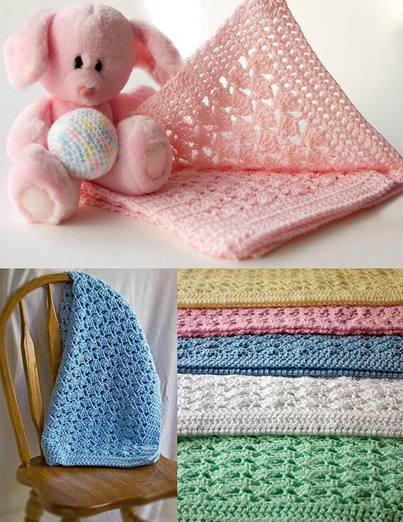 Baby-Decke Häkeln afghanischen Muschel Muster Geschenk Plüsch | Etsy