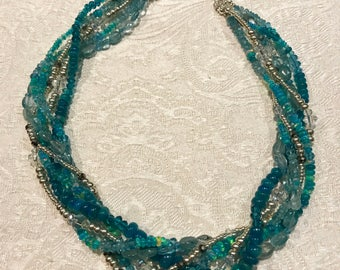 Ocean Blue Opal necklace