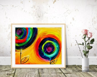Colorful Flower Art Print- 11x14 size