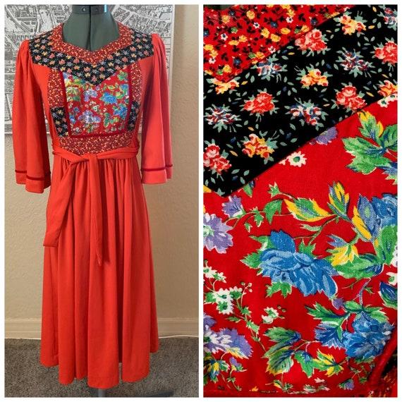 70's Patchwork Dress
