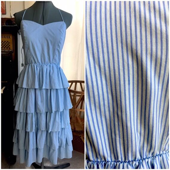 Cake Topper Pastel Blue Dress