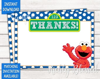 Elmo Thank You Etsy