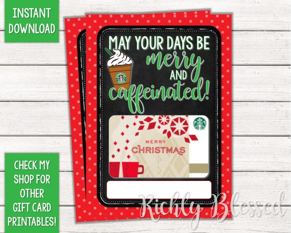 graphic about Starbucks Printable Gift Card known as Prompt Obtain Starbucks Present Card Xmas Card Holder Reward Card Printable Instructor Good friend Prepare Reward Starbucks Xmas Do it yourself Printable