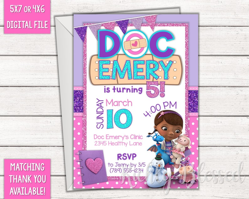 photograph relating to Doc Mcstuffins Printable Invitations named Document McStuffins Encouraged Invitation Document McStuffins Birthday Social gathering Crimson Pink Aqua, Medical doctor Nurse Birthday Printable Document McStuffins Invitation
