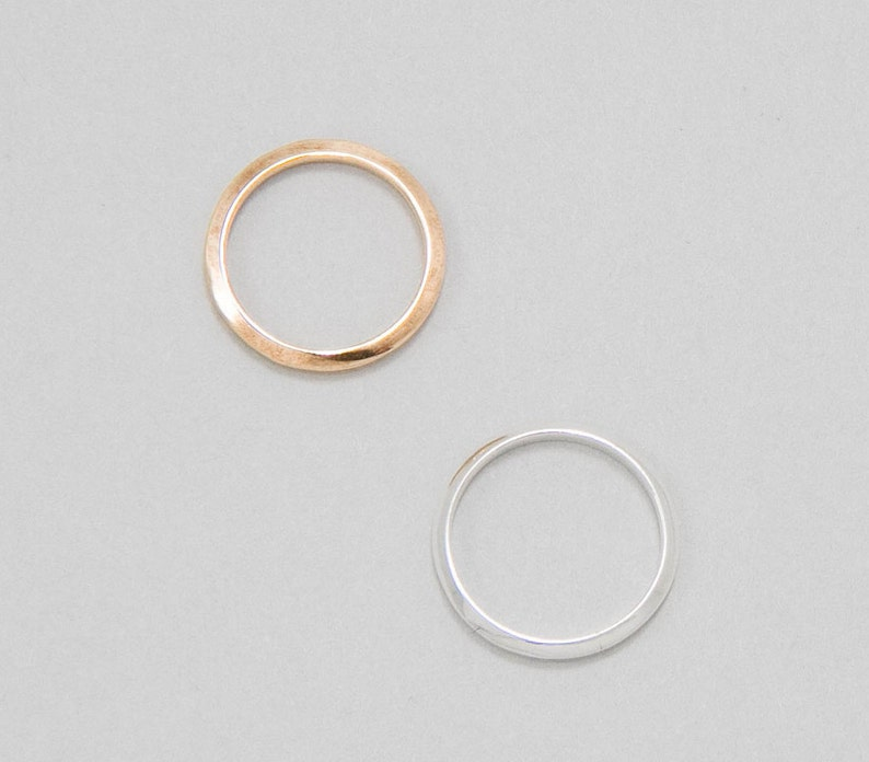 Thin Minimalist Ring Triangle Geometric Band Silver or Brass Ring Camillettejewelry