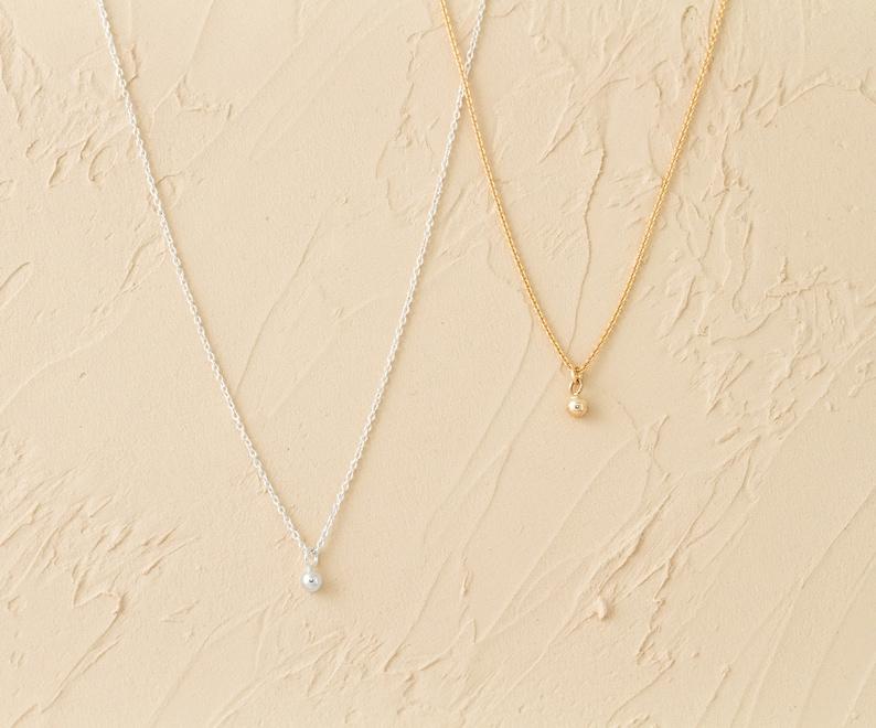 Pr\u00e9lude Orb Necklace \u2013 Silver by Camillette