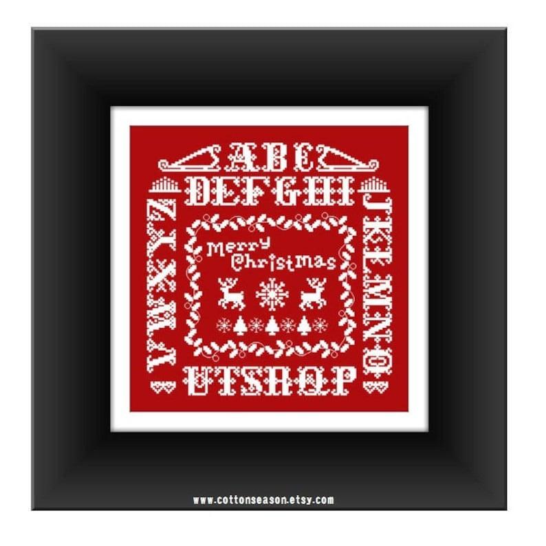 Top Ten Weihnachtsessen.Christmas Sampler Cross Stitch Pattern Pdf Weihnachten Kreuzstichvorlagen