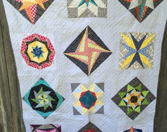 Stars Throw Quilt // In Stock, READY TO SHIP