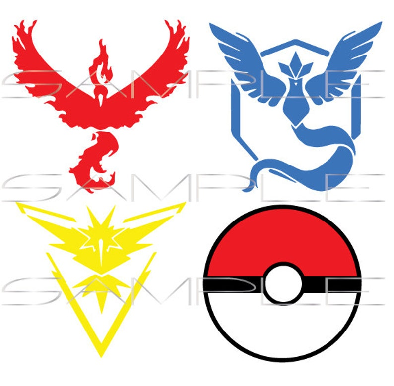graphic about Pokeball Printable named Pokemon Move Groups - Valor Mystic Intuition - Pokeball - printable PDFs and SVG minimize document