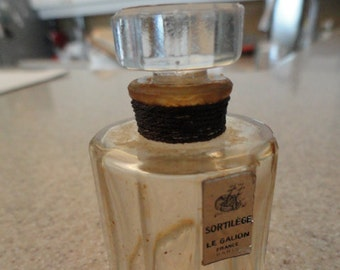 Vintage Le Galion Sortilege Perfume Bottle 1/2 fl oz size Paris France
