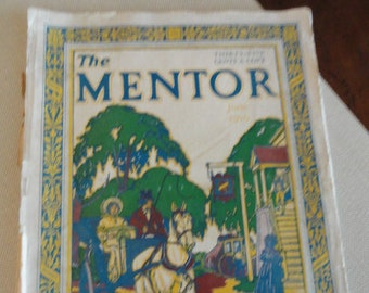 Mentor Magazine 1929 wood block print cover