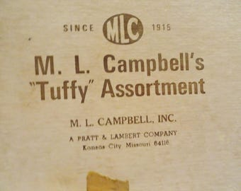 Shellac samples M. L. Campbell's Tuffy Assortment 55 pieces