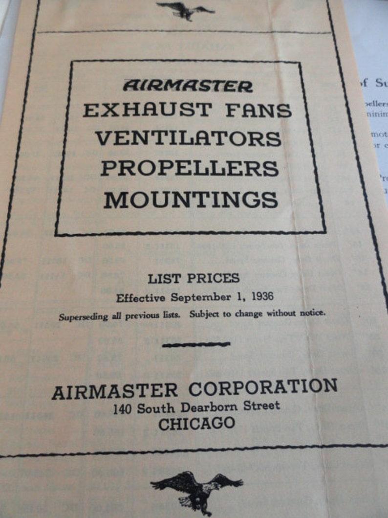 Vintage Airmaster General Catalog vintage fans