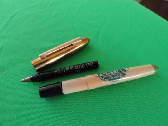 Vintage de camionnage Fortier de stylo rite roi camionnage Pen échantillon ad