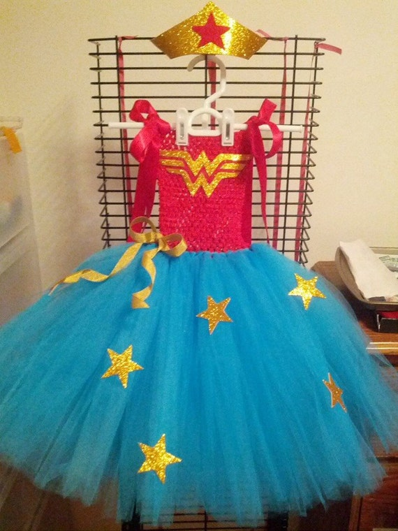 Wonder Woman Tutu Dress Super Hero Tutu Dress Halloween  Etsy-1018