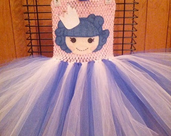 Lalaoopsy tutu dress, Halloween costume, First birthday tutu dress, Lalaloopsy dress, girls dress up