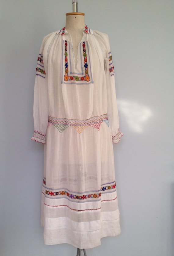 Vintage 1920/1930 peasant Czech wedding dress