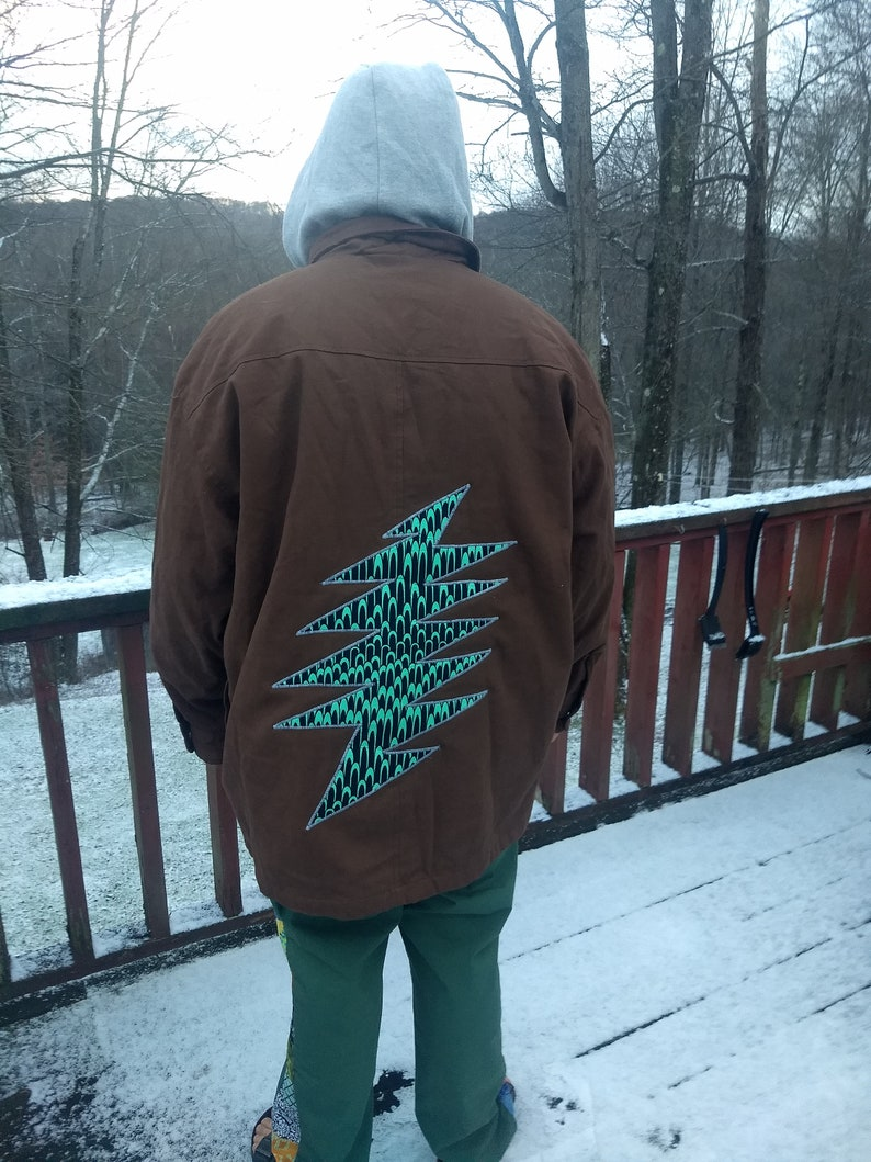 Embroidered 13 Point Grateful Dead Lightning Bolt Jacket with Hood Dickies Brand XXL