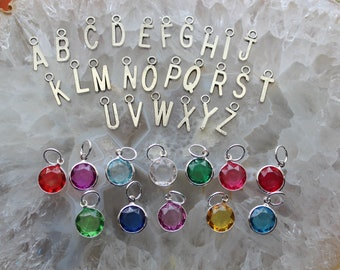 Add a Initial or Birthstone To your Seaglass charm Necklace Personalize your Necklace Jewelry gifts by Inarajewels