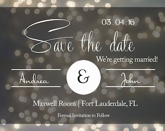 Wedding Announcement - Save The Date