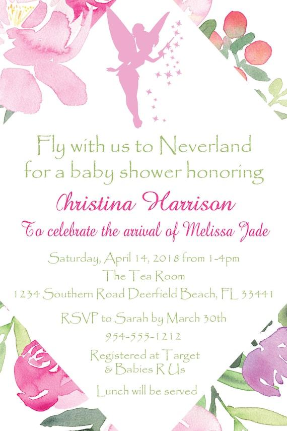 Tinkerbell neverland baby shower invitation template 4x6 etsy image 0 filmwisefo