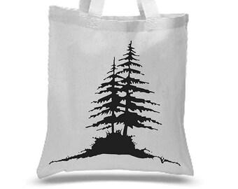 Pine tree tote
