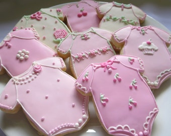 Baby Shower Cookies, Baby Girl Cookies, Onesie, Baby Cookies, Girl Cookies, Baby Shower Favors, Baby Girl, Baby, Pink, Favors, Gender Reveal