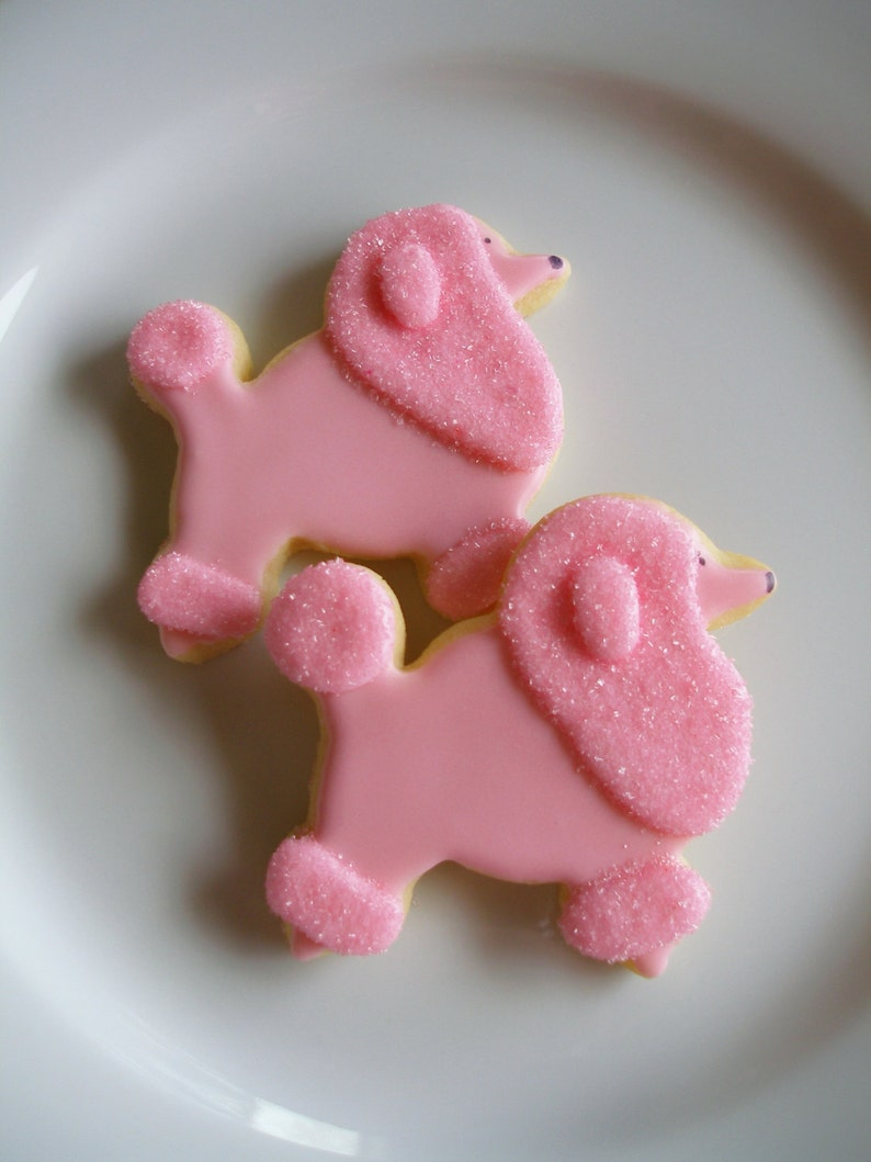 da7c2476121 Poodle Cookies Valentine Cookies Paris Cookies Baby Shower