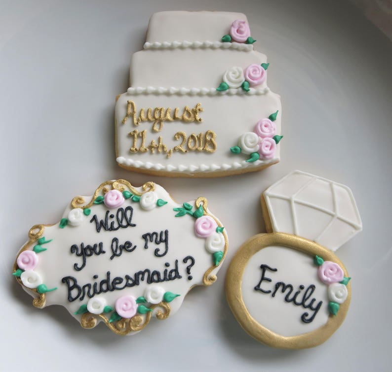 Will You Be My Bridesmaid Cookies Maid of Honor Cookies image 0