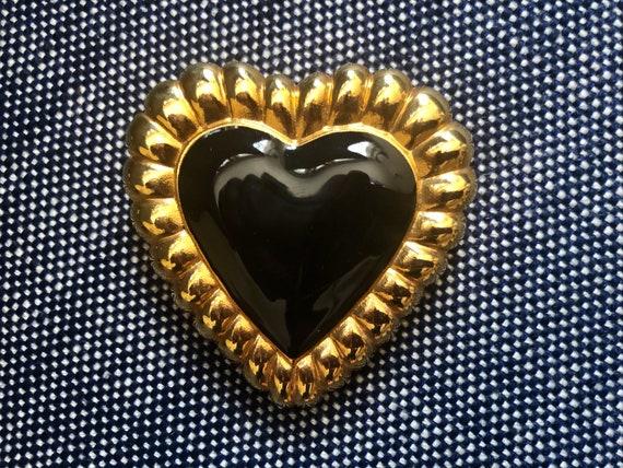 1980s Heart /& Arrow Brooch