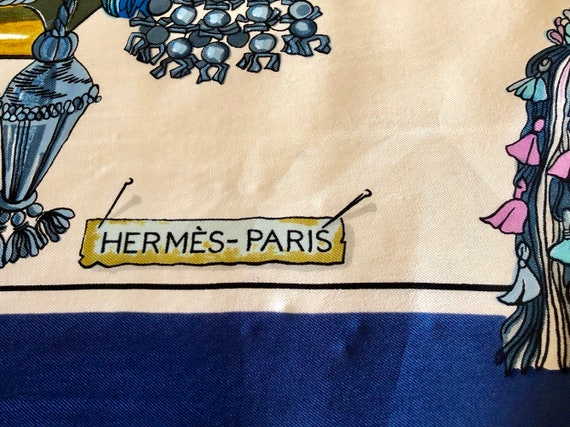 Vintage Hermes Silk Scarf Passementerie by Francoise Heron   Etsy b386134476d