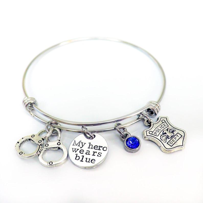 0157b11bc6a08 Police femme Bracelet Bracelet Police Police amie Bracelet   Etsy