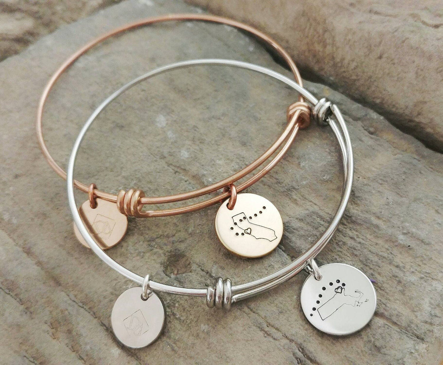 3c72fcf01f1e2 Best Friend Bracelets - Long Distance Friendship Jewelry -Best Friend Gift  - Moving Away Bracelets - Long Distance Friendship Bracelets