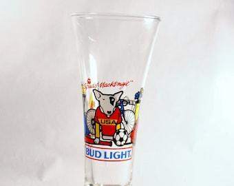 1988 Spuds MacKenzie Bud Light Pilsner Glass Beer Glass Advertising
