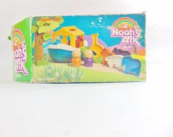 Vintage Toys, 1980s, Noahs Ark, Noah, Noahs Ark Toy, Tupperware Toys, Tupperware, Bath Toys, Religious Gifts, Bath, Boat, Old Toys